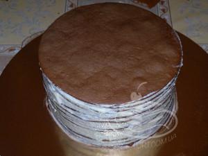 Торт Спартак - коржи, перемазанные кремом