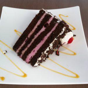 Торт Черный Лес (Шварцвальд) - в разрезе