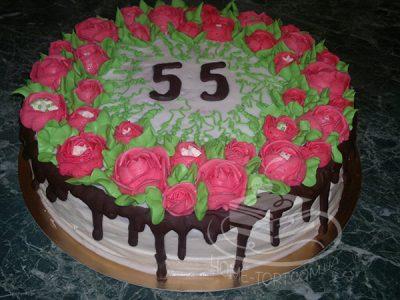Торт Спартак с украшением на День Рождения