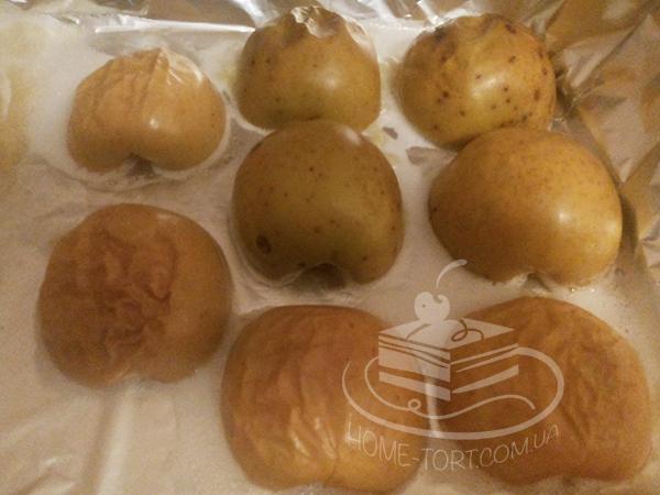 Печеные яблоки для зефира