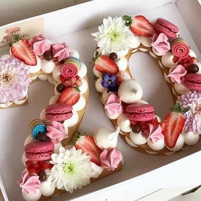 торт цифра | Тренды дизайна тортов 2018-2019 | Блог | Торт на заказ