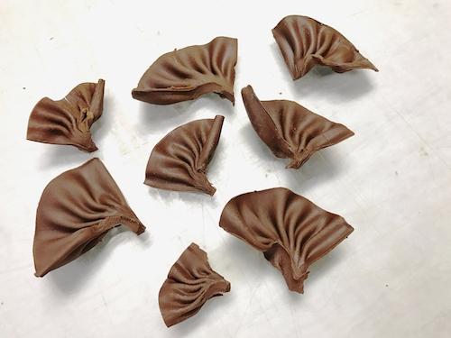 Шоколадный веер | Оформление торта