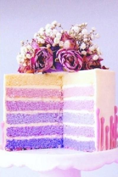 торт омбре | Тренды дизайна тортов 2018-2019 | Блог | Торт на заказ