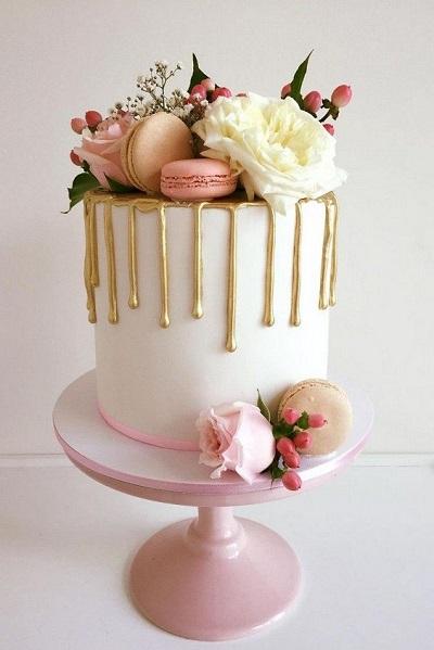золотой торт | Тренды дизайна тортов 2018-2019 | Блог | Торт на заказ