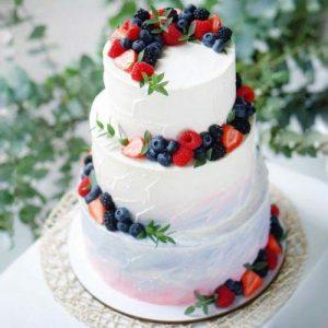 Свадебный торт с фруктами | Заказать свадебный торт во Львове
