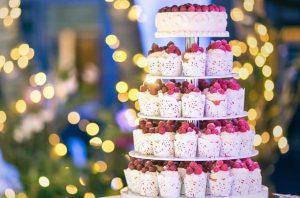 Свадебный торт из капкейков | Заказать свадебный торт во Львове