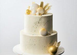 Золотий весільний торт