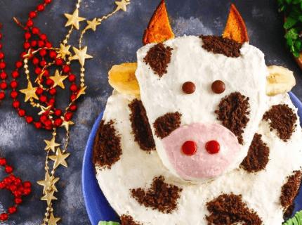 Торт в виде бычка на Новый год | Торт на заказ во Львове