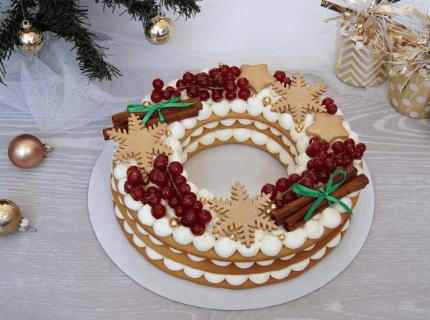 Торт Рождественский венок на Новый год | Торт на заказ во Львове