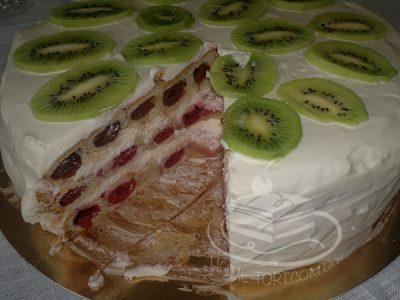 Торт Монастырская Изба в разрезе