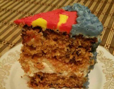 Морковный торт - кусочек
