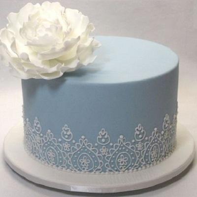 винтажный торт с кружевом | Тренды дизайна тортов 2018-2019 | Блог | Торт на заказ