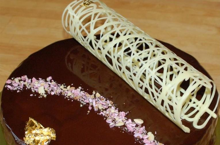 Трубочки из шоколада | Оформление торта