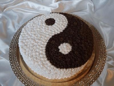 Декор торта Инь-Янь | Торт на заказ во Львове