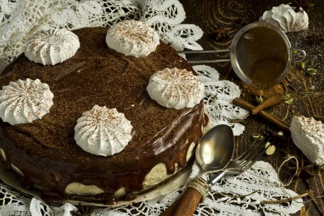 Декор торта зефиром | Торт на заказ во Львове