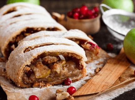 Штрудель на новогодний корпоратив | Торт на заказ во Львове