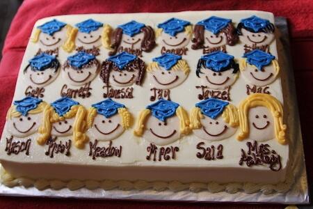 Торт на выпускной в школе